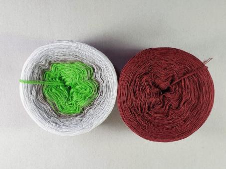 Farbverlaufsgarn Bobbel Frischer Klee mit Port