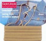 Velourlederimitat 4mm Band - Goldzack lederband
