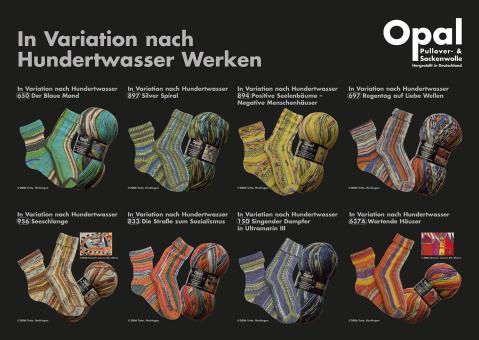 OPAL SOCKEN- und PULLOVERWOLLE nach Hundertwasserwerken