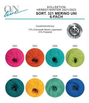 Online Supersocke 6fach Sort 321- Merino Uni