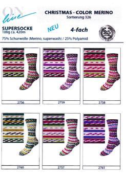 ONline Supersocke 100 Sort.326 - Christmas Merino Color
