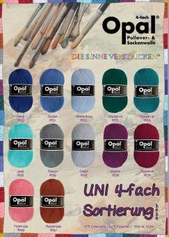 Opal Sockengarn - Uni 2020 - 4fach